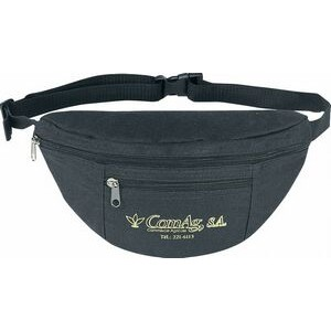 Poly Two-Zipper Fanny Pack